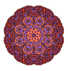 circular stained glass mandala vector image