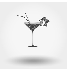 Cocktail with lime and mint vector image
