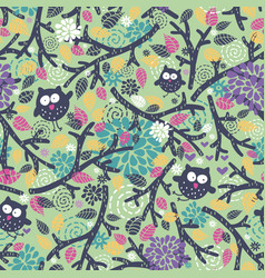 Creative children pattern with funny owls and vector