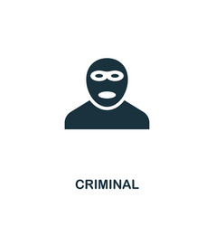 criminal icon premium style design from security vector image