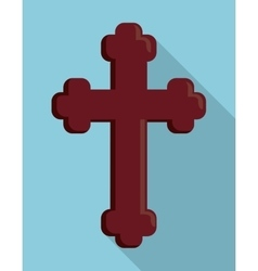 Cross wood religion church icon graphic vector