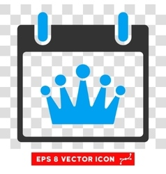 Crown Calendar Day Eps Icon vector image