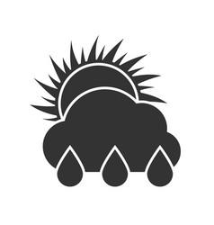 dark weather rain sunny day icon vector image