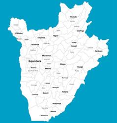 Detailed map burundi vector