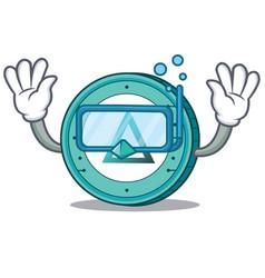 Diving salt coin character cartoon vector