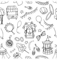 doodle pattern circus vector image