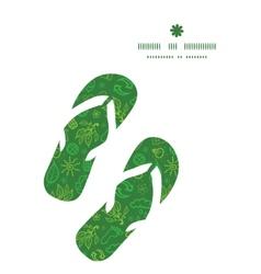 ecology symbols flip flops silhouettes pattern vector image