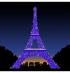 Eiffel Tower at Night vector image