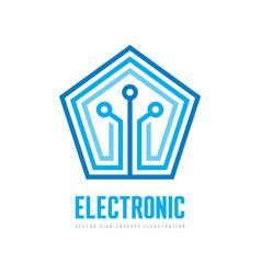 Electronic - logo template concept vector