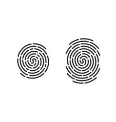 fingerprint finger print logo line icons vector image