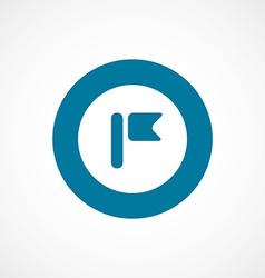 Flag bold blue border circle icon vector