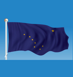 flag of alaska vector image