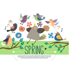 flat springtime template vector image