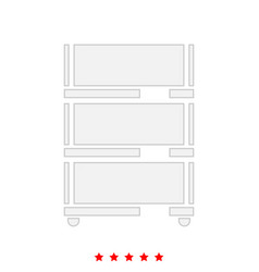 floor rack for paper it is icon vector image