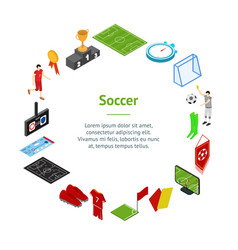 football or soccer game concept banner card circle vector image
