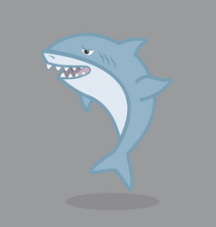 funny shark cartoon character vector image