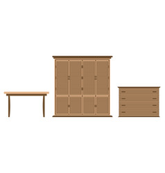 furniture design set dresser cabinet table on a vector image