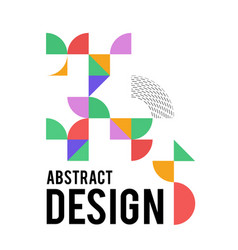 geometric design with shapes in the style of vector image