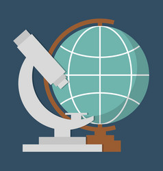 Globe geography tool icon vector