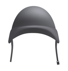 Grey helmet mockup realistic style vector
