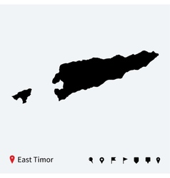 High detailed map of East Timor with navigation vector image