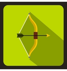 Hunting bow icon flat style vector image