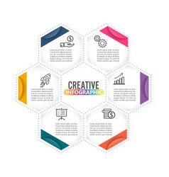 Infographics 6 options template for vector