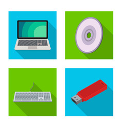 Laptop and device icon set vector