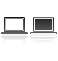 laptops technology computer icons vector image