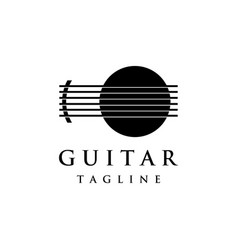 luxury abstract logo symbol for guitar classic vector image