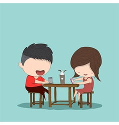 Male and girl teens vector