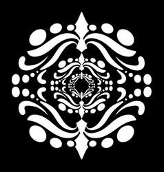 mandala in black and white vector image