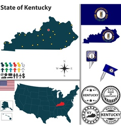 Map kentucky vector