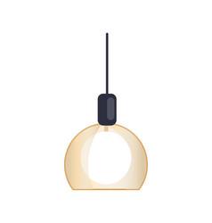 modern chandelier interior vector image