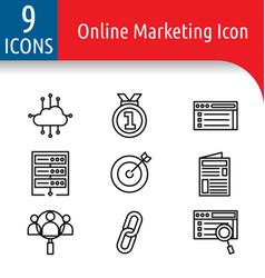 Online market icon vector