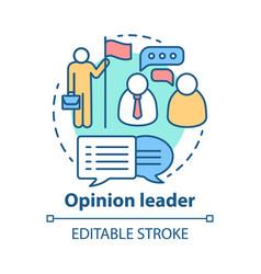 Opinion leader concept icon public speaker idea vector