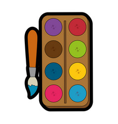 Paint palette icon vector