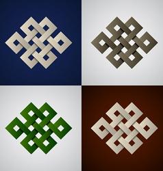 paper endless celtic knots vector image