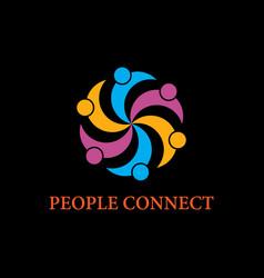 people business logoconnecting peoplehappy people vector image