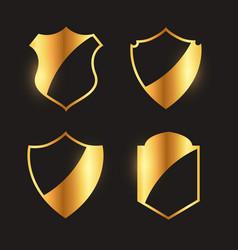 premium golden badges emblem and label design vector image