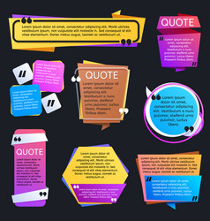 quote texting boxes blog quotes bubble vector image vector image