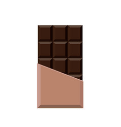 realistic chocolate bar isolated on white vector image
