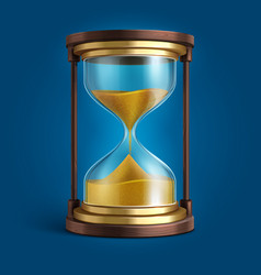 realistic hourglass sand clock timer vector image