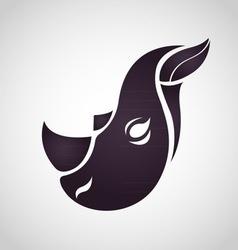 Rhino logo vector image
