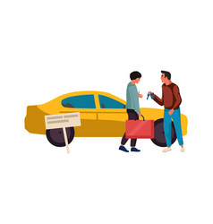 sale or rent automobile agent sells vehicle vector image
