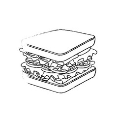 Sandwich delicious food vector