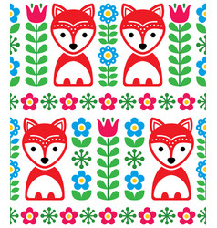 scandinavian seamless pattern nordic background vector image