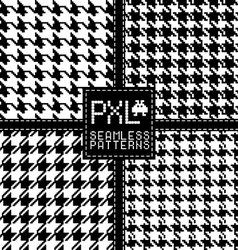Seamless fashion pattern of pixel style vector