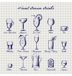 Set of popular drinks vector image