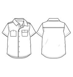 short-sleeved summer shirt vector image